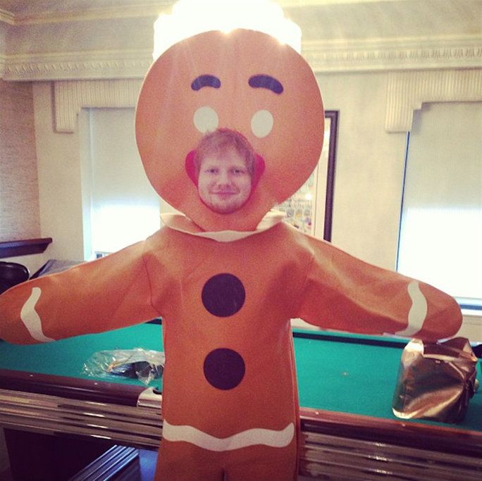 Када he dressed up in a gingerbread man costume