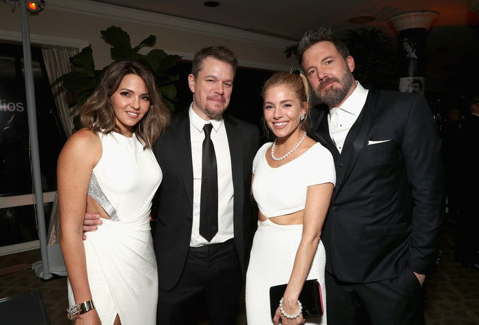 لوسيانا and Matt Damon, Sienna Miller, and Ben Affleck