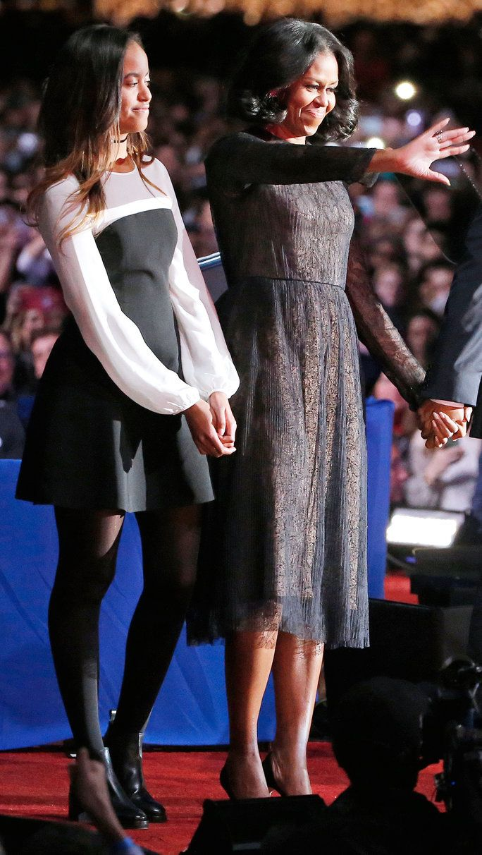 Први Lady Michelle Obama and daughter Malia Obama