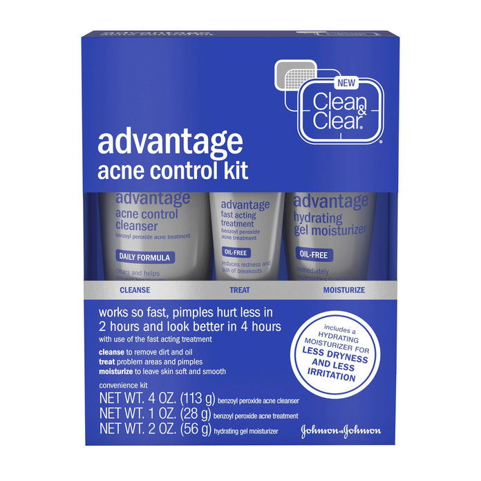Чист & Clear Advantage Acne Treatment Control Kit for Clear Skin