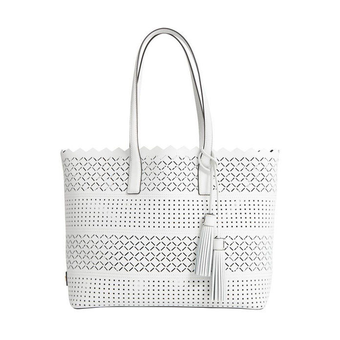 الليزر Perforated Leather Tote