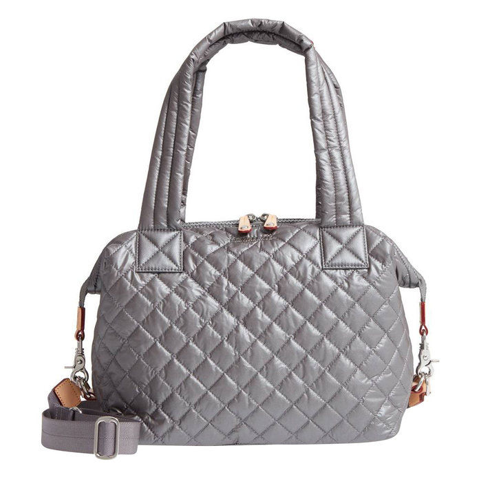 متوسط Sutton' Quilted Oxford Nylon Shoulder Tote