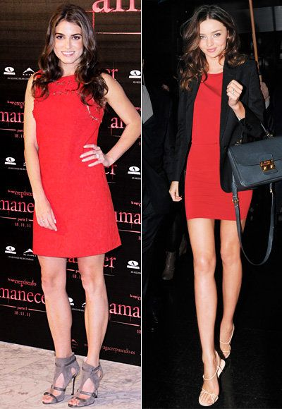 أحمر Dress - Ashley Greene - Miranda Kerr