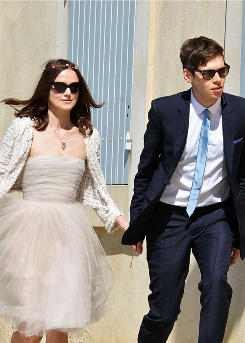 Позната личност Wedding Photos - Keira Knightley and James Righton