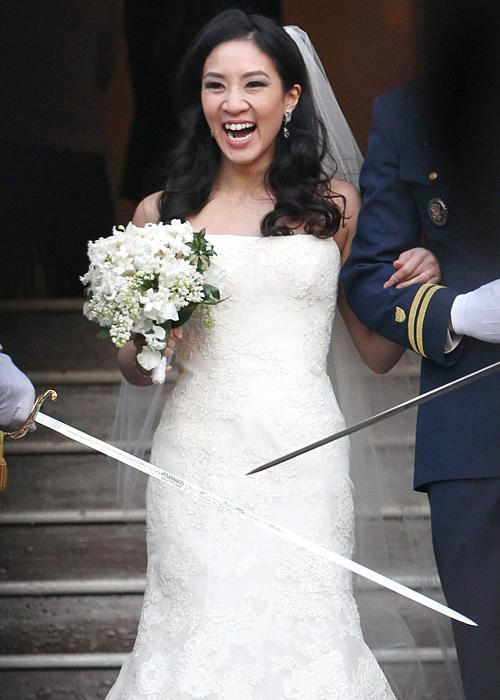 Позната личност Wedding Photos - Michelle Kwan and Clay Pell