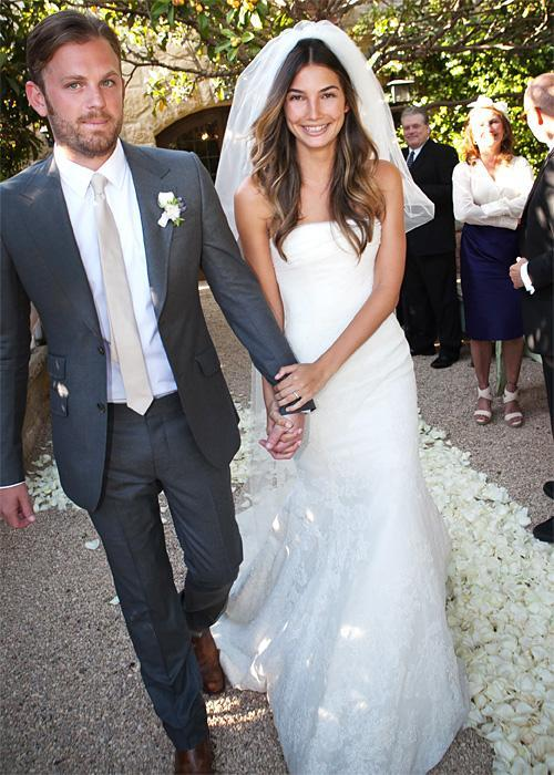 Позната личност Wedding Photos - Lily Aldridge and Caleb Followill