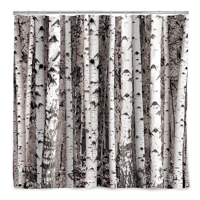 бирцх tree shower curtain