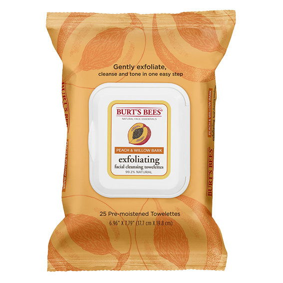 Буртов Bees Peach & Willowbark Exfoliating Facial Cleansing Cloths