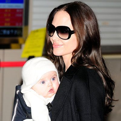 Ангелина Jolie, Maddox, Zahara, Pax and Shiloh, Brad Pitt, Vivienne Marcheline, Knox Leon, Star Moms and Kids, Mother's Day
