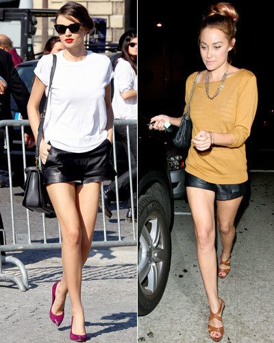 Миранда Kerr - The Row - Lauren Conrad - Paper Crown - Leather Shorts - Spring Trends