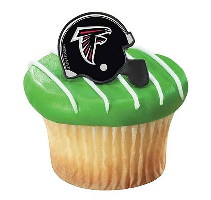 НФЛ Atlanta Falcons Cupcake Helmet Rings 12 count