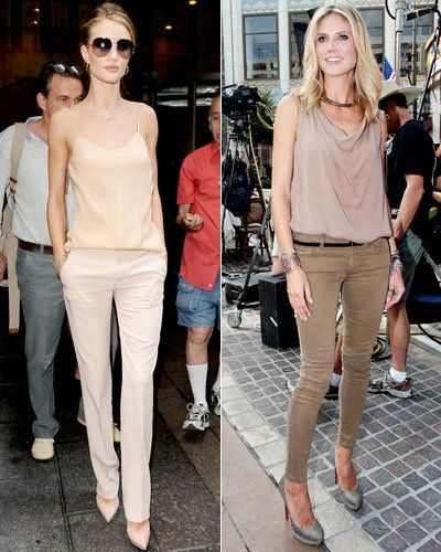 Росие Huntington-Whiteley - The Row - Heidi Klum - Haute Hippie - Paige Denim - Spring Trends