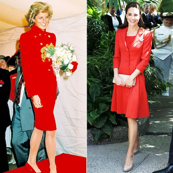 Принцеза Diana and Kate Middleton's Similar Style