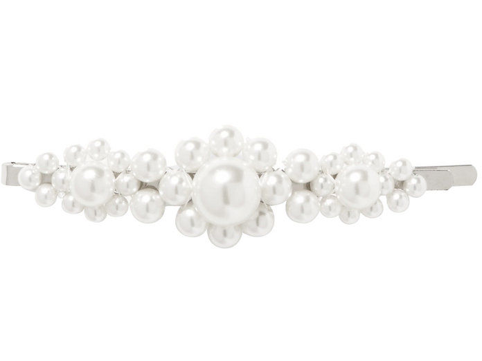 Сребрни тон Faux Pearl Hair Slide