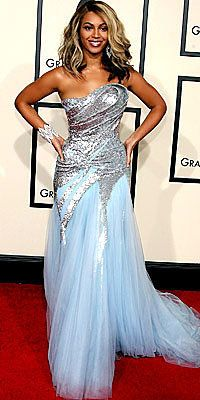 Беионце Knowles, Elie Saab, grammys, blue dress, celebrity trends, grammys trends