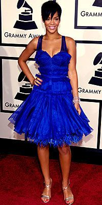 Ријана, Zac Posen, grammys, trends, celebrity trends, blue dress