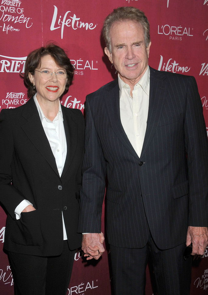 أنيت Bening and Warren Beatty