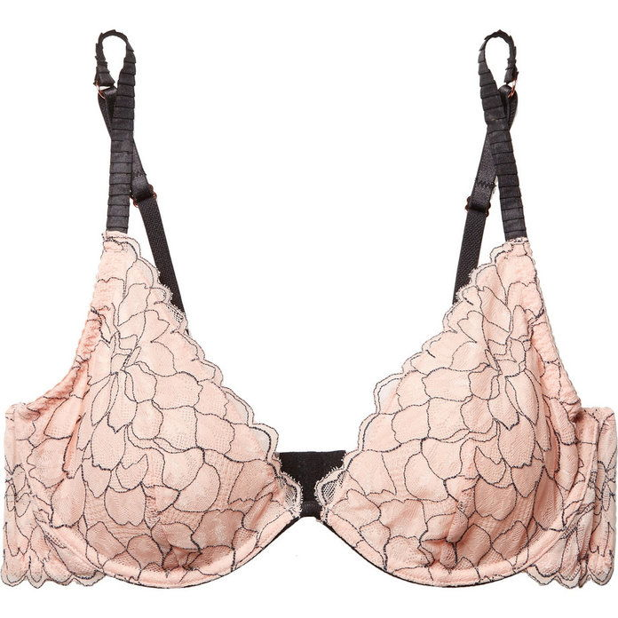 Росарио The Plunge Stretch-Corded Lace Underwired Bra