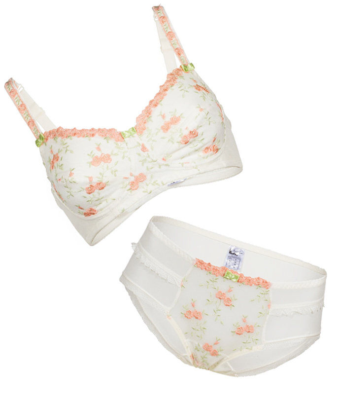 Црвена Fern Lingerie Amelia Bra and Brief Set