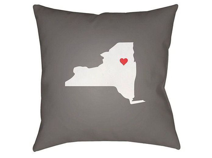 За the Homebody: Surya State of the Heart Pillow