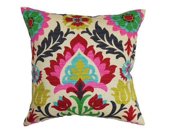 За the Boho Girl: The Pillow Collection Pink Boho Pillow