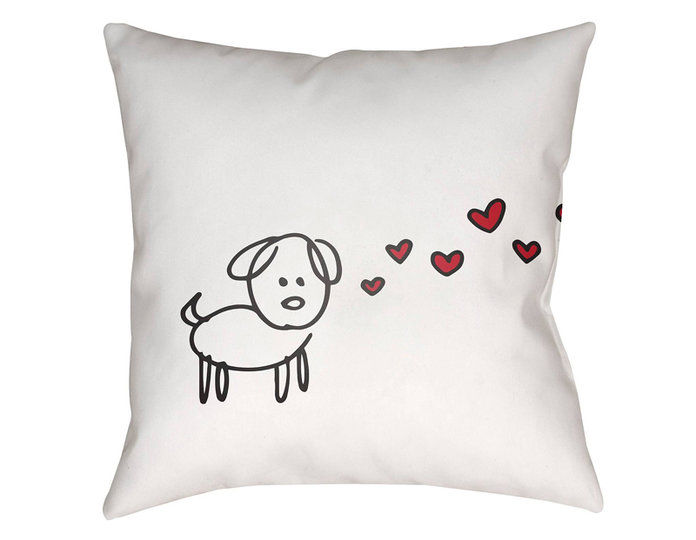 За the Dog Lover: Surya Pawfect Love Pillow