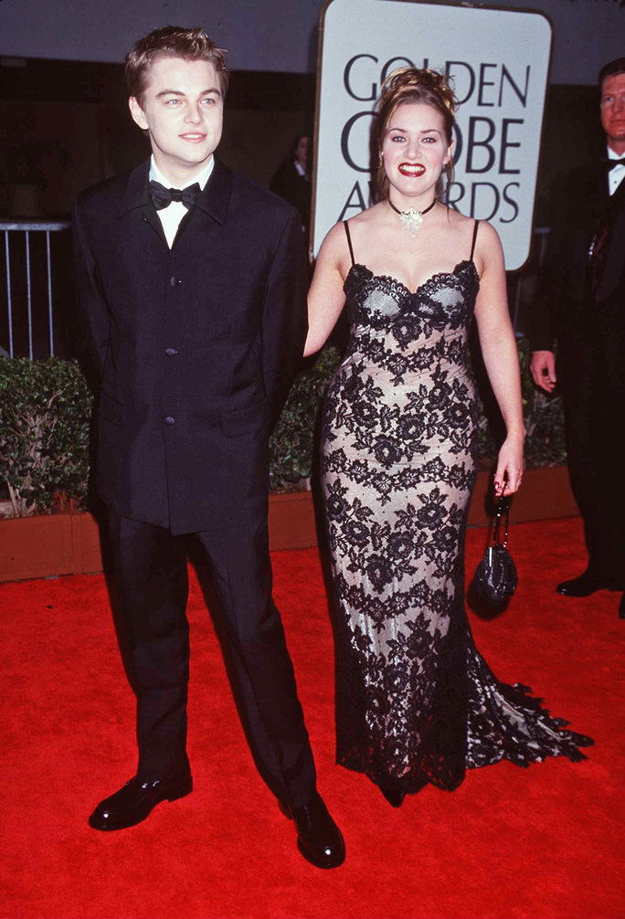 Кате and Leo at the 1998 Golden Globes