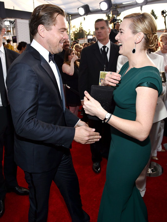 Кате and Leo at the 2016 SAG Awards