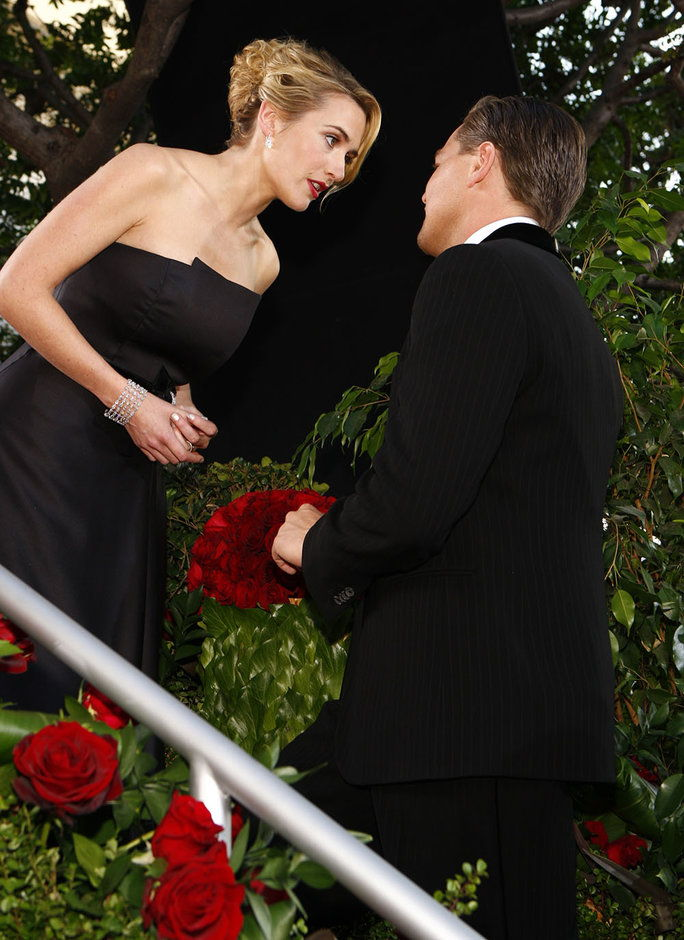 Кате and Leo at the 2009 Golden Globes