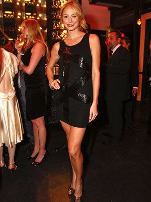 ستايسي Keibler in Bebe, InStyle Oscar Viewing Party, 2008 Academy Awards