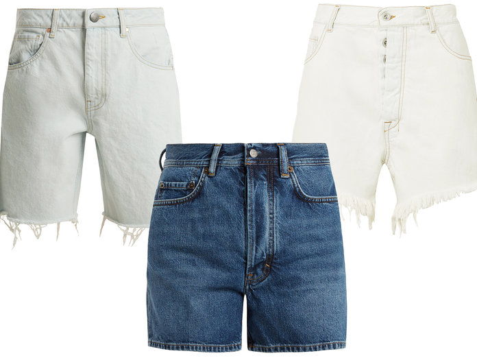 طويل Inseam Denim Shorts