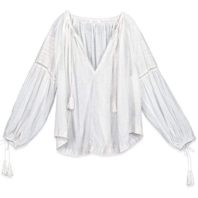مصدر EMBROIDERED GAUZE TOP