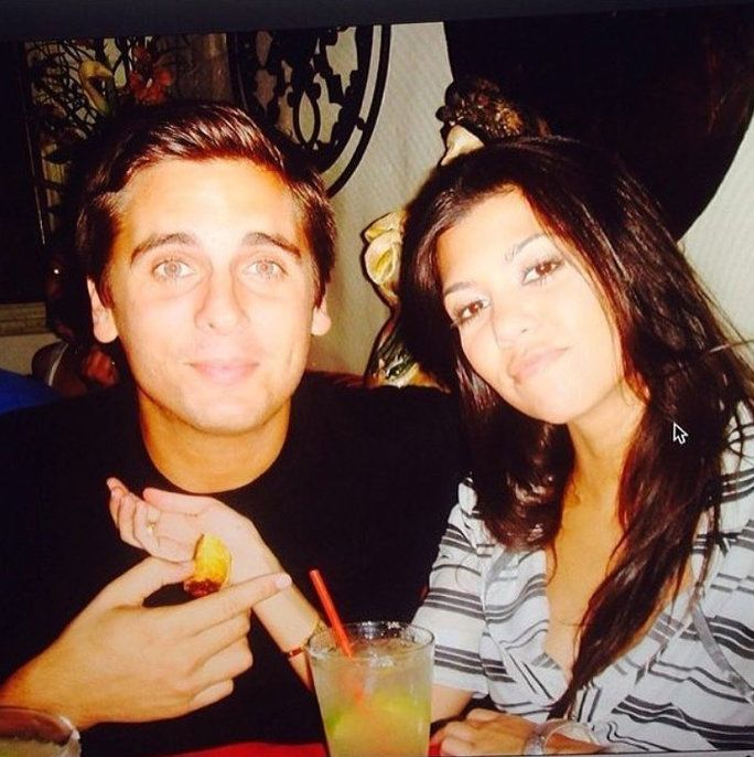 كورتني Kardashian and Scott Disick throwback