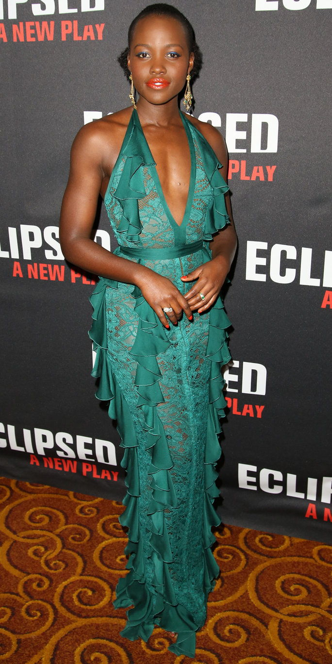 وبيتا Nyong'o attends the 'Eclipsed' broadway opening night after party at Gotham Hall on March 6, 2016 in New York City.