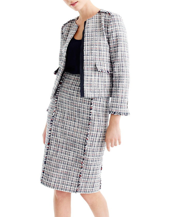 ا Pencil Skirt + Tweed = a Lady-Like Option.