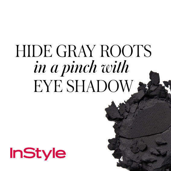 20 Timeless Hair Tips - Hide Gray Roots in a Pinch with Eye Shadow