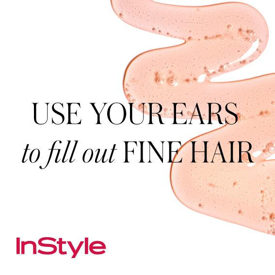 20 Timeless Hair Tips - Use Your Ears to Fill Out Fine Hair