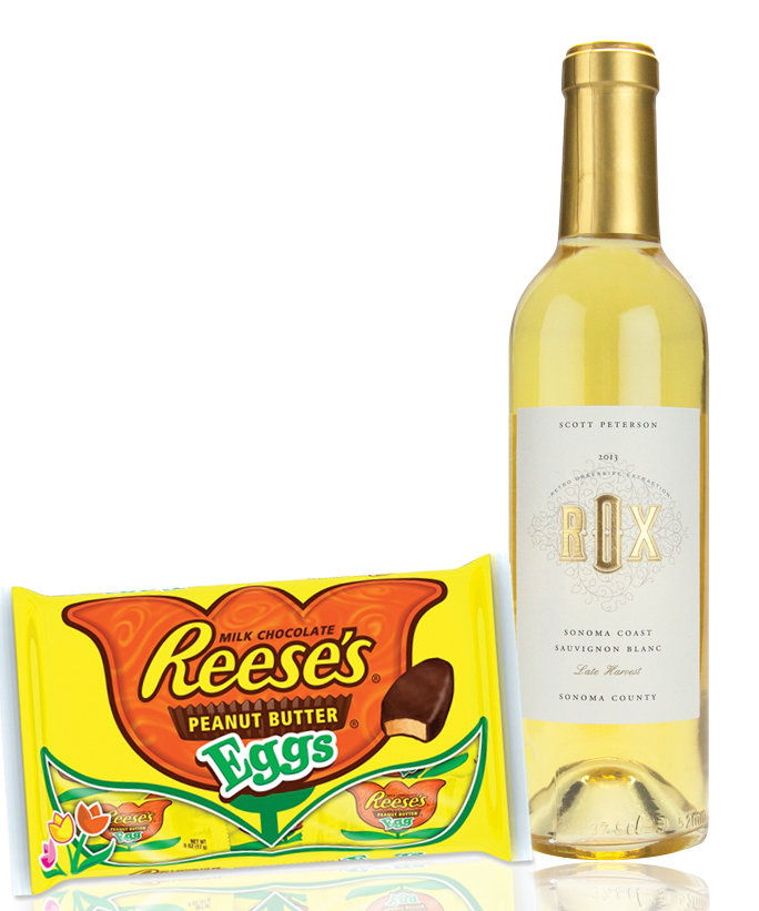 Реесе's Peanut Butter Eggs with a Sherry-Style Wine