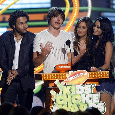 كوربن Bleu, Zac Efron, Vanessa Hudgens, Ashley Tisdale, 2009 Kids Choice Awards, Los Angeles