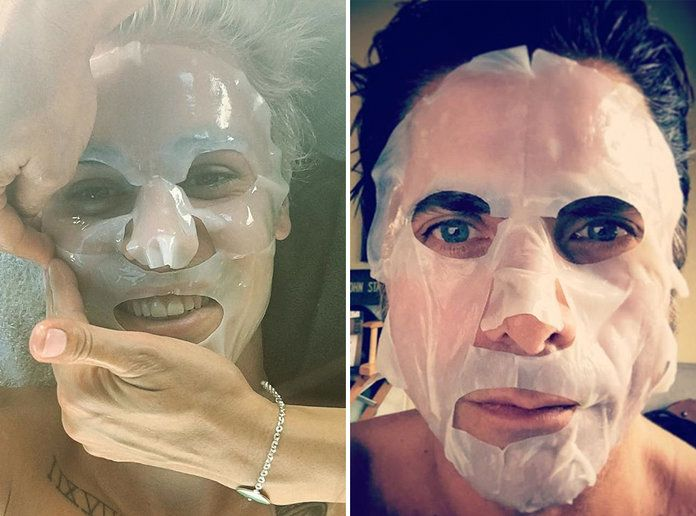 Вруће Guys in Facemasks - LEAD