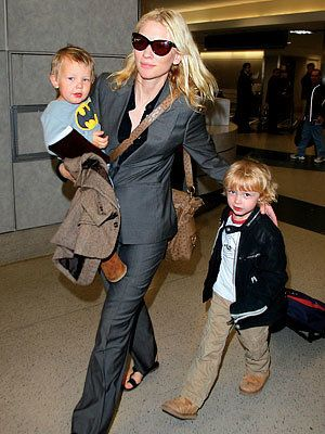 Цате Blanchett with sons Dashiell and Roman