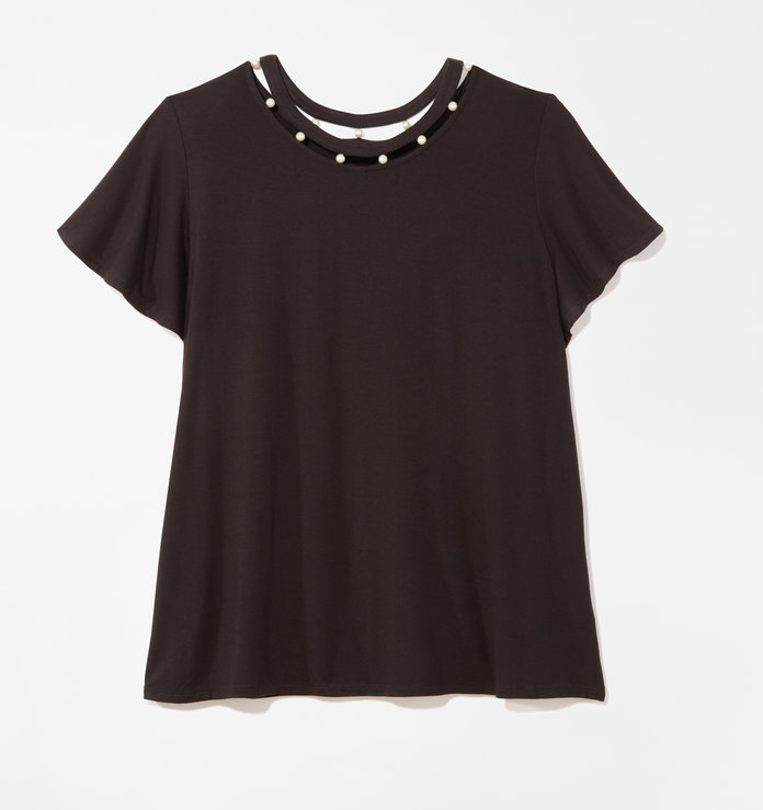 црн embellished t-shirt