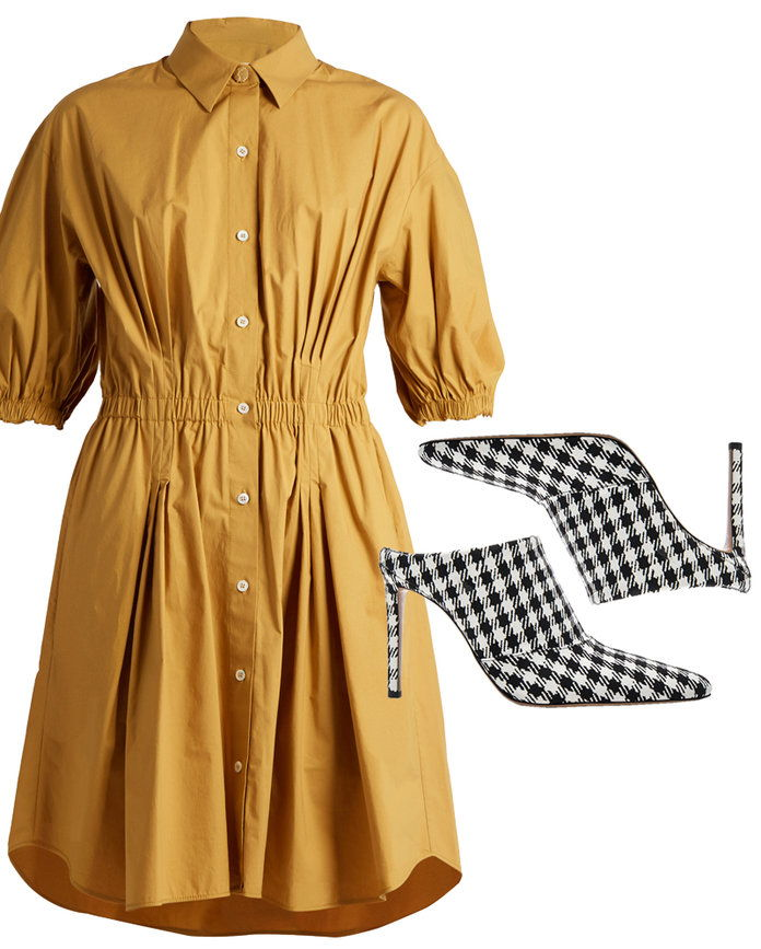 ل easy throw on utilitarian shirt dress.