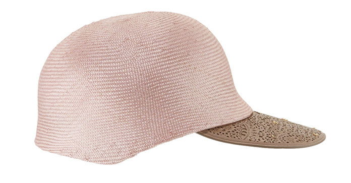 Инверни Straw Leather-Trim Baseball Cap