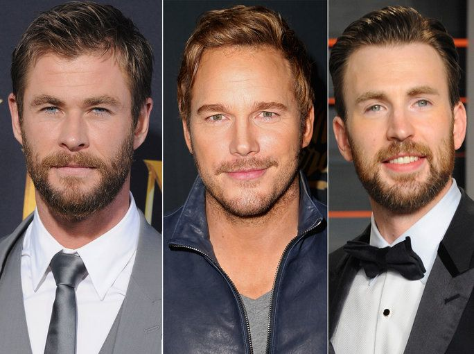 Цхрис Hemsworth, Chris Pratt & Chris Evans
