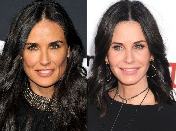 Деми Moore & Courteney Cox