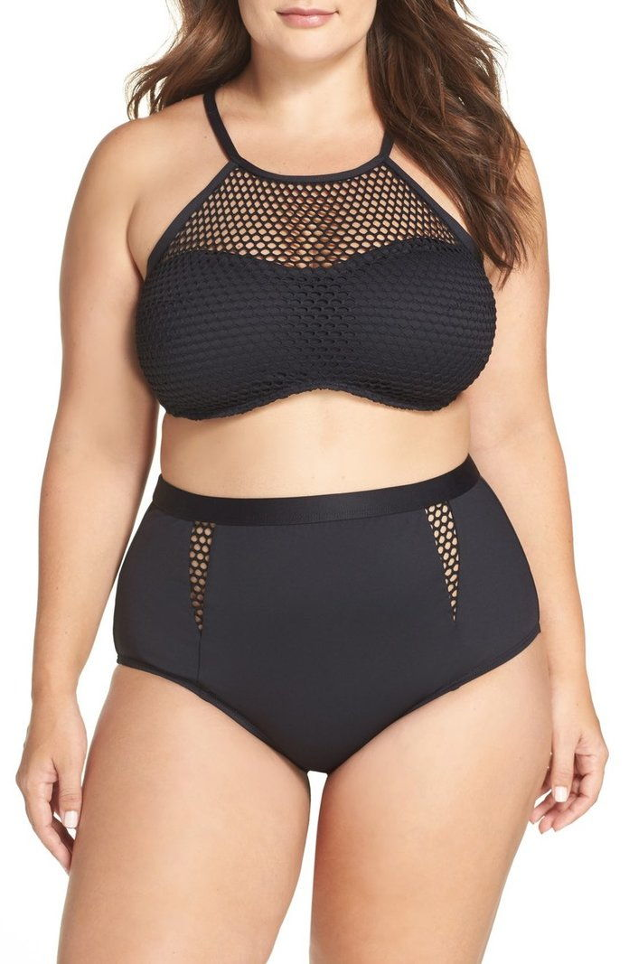 Ла Blanca All Meshed Up High Waist Bikini