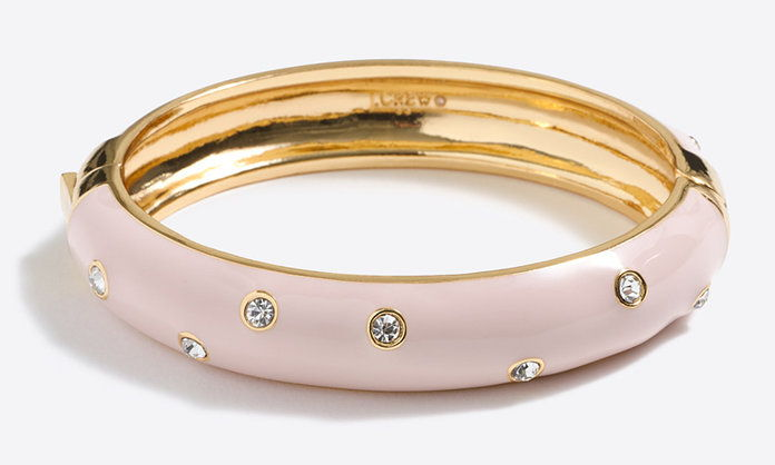 J. Crew Spotted Enamel Bangle Bracelet
