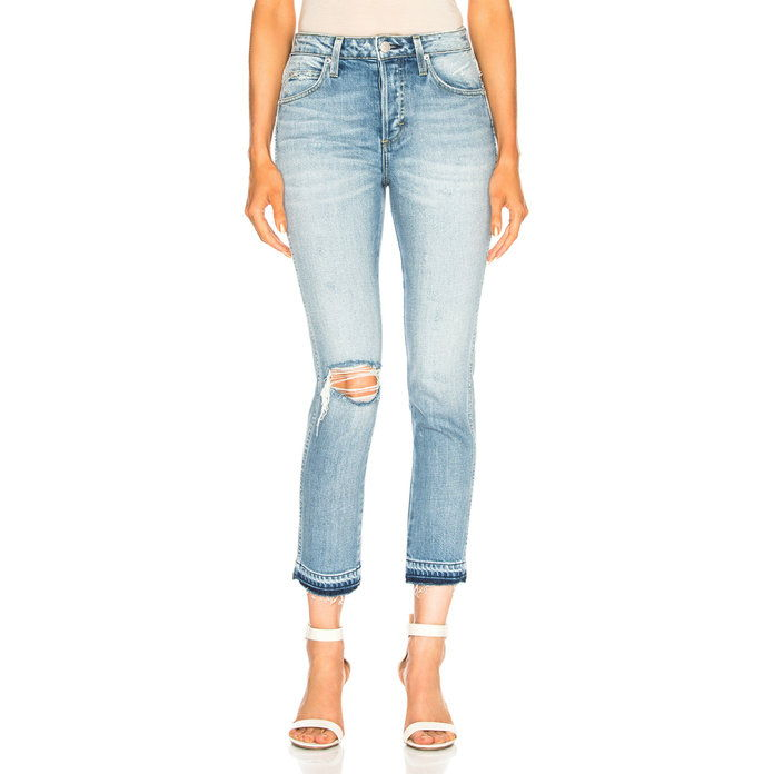 Бабе Straight Cropped Jeans