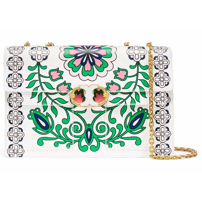 Тори Burch Gemini Link Printed Shoulder Bag